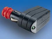 12 Volt uni-stekker met controle led