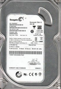HDD Seagate Barracuda 250GB / 3.5 inch / 7200RPM