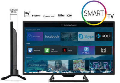 Telesystem Smart TV SLIM met Android 24 inch DVB-T2/S2 HEVC