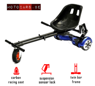 Hoverkart ROOD - extra grote wiel
