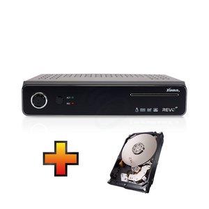 Xsarius Revo 4K UHD Twin Sat + GRATIS 1 TB Interne 2.5 Inch HDD t.w.v. € 70,-