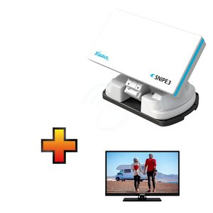 Xsarius Snipe 3 + GRATIS Telefunken 24 Inch 12 V LED Smart TV t.w.v. € 249,-