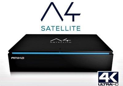Amiko A4 Combo DVB-S2 / DVB-T2 en DVB-C