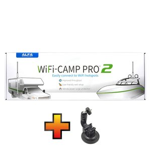 Alfa Network WiFi Camp Pro 2 Set + GRATIS zuignap