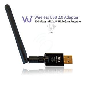 VU+ Draadloze 300 Mbps USB adapter incl antenne