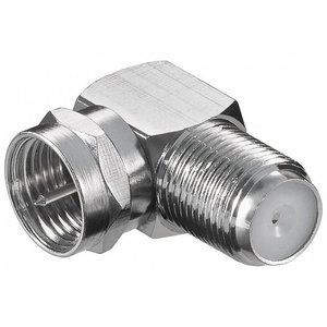 Blueqon BKF4-004H Haaks Fconnector RG6 Nickel