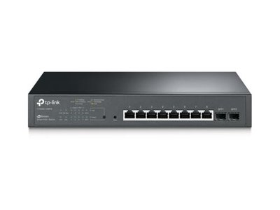 TP-LINK T1500G-10MPS netwerk-switch Managed L2 Gigabit Ethernet (10/100/1000) Zwart 1U Power over Ethernet (PoE)